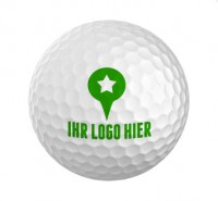 Golfbälle mit Aufdruck
